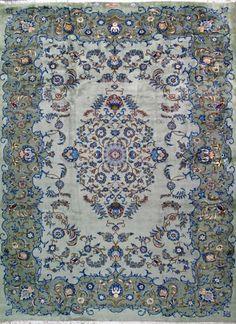 """Kashan Persian Rug, Buy Handmade Kashan Persian Rug 9' 6"""" x 13' 3"""", Authentic Persian Rug"""