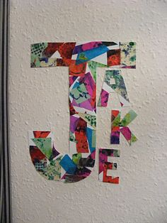 Eric Carle inspired Initial Art
