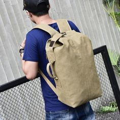 Purchase Vintage Neutral Outdoor Travel Canvas Backpack High Capacity Satchel Hiking Bag from Yuanzala on OpenSky. Share and compare all Accessories. Canvas Travel Bag, Canvas Backpack, Travel Bags, Best Travel Backpack, Hiking Bag, Hiking Backpack, Men's Backpacks, Minimalist Bag, Backpack Reviews