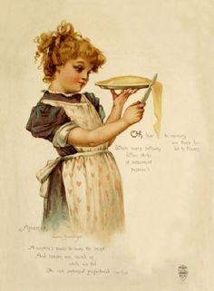 Frances Brundage (1854–1937) #Brundage #vintage #printable #ephemera #girl #America