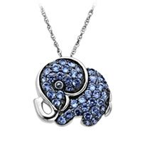 Dear Santa, please, please, please!!!!    Ceylon Sapphire Elephant Pendant 1669795 | Fred Meyer Jewelers  #FredMeyerJewelers and #GiftsThatDelight