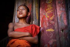 ©Marco Boria Italian photographer, novice buddhist monk #laos #faces #reportage #documentary #life #travel #portrait #world