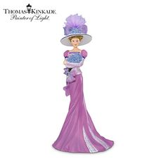 Thomas Kinkade Promise In Purple Figurine