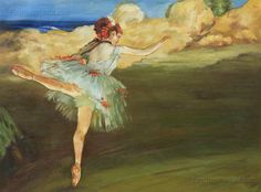 The Star: Dancer on Point Edgar Degas by PaintingMania on Etsy