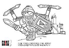Disegni da Colorare LEGO - Nexo Knights - Ultimate Clay - Clicca sull'immagine per scaricarla gratuitamente!