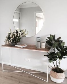 This scandi boho relaxed entrance way is simply superb.