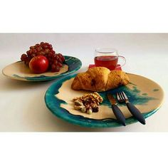 """""""Amazing photo My twin plate in @panooki collection Thanks PaPan for sharing #ceramics #breackfast #plate #croissant"""""""