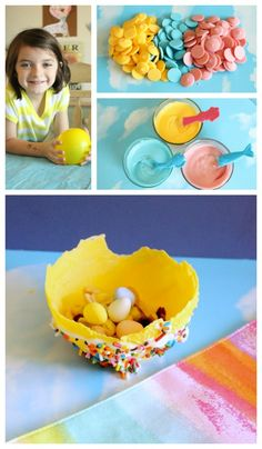 Edible Easter Art Projects - how cute *&fun!!