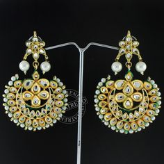 FAREEHA GOLD PLATED KUNDAN EARRINGS @ Indiatrend For $35.99USD With Free Shiping Worlwide