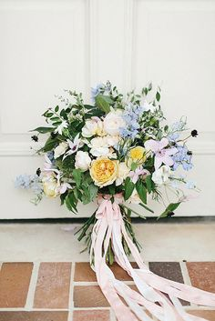 "35 ""Something Blue"" Bridal Bouquets ~ we ❤ this! moncheribridals.com"