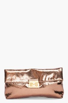 MARC by MARC JACOBS snake-emobossed clutch