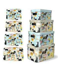 Another great find on #zulily! Dog Show Rounded Corners Storage Bin Set #zulilyfinds