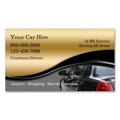 Taxi Business Cards Card Design Image Paper