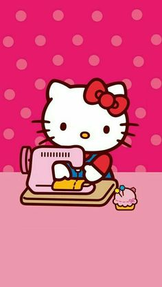 Find images and videos about pink, wallpaper and hello kitty on we heart it - the app to get lost in what you love. Sanrio Hello Kitty, Hello Kitty Art, Hello Kitty My Melody, Hello Kitty Pictures, Hello Kitty Birthday, Kitty Cam, Hello Kitty Backgrounds, Hello Kitty Wallpaper, Ipod Wallpaper