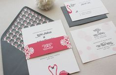Friday Five // Fabulous Flamingo Wedding Theme Ideas. A flamingo wedding theme? Yes my little love birds and I'm not just referring to the colour flamingo pink either!