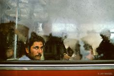 Man in Bus.  Bucharest, Romania.  Image by Jay Maisel.