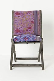 Overdyed Terai Chair Kantha-style embroidery and vivid cotton upholstery, married atop a handcrafted sheesham wood frame. Intended for indoor use Sheesham wood frame Cotton upholstery; Unique Furniture, Dining Furniture, Home Furniture, Dining Chairs, Furniture Design, Dining Room, Furniture Ideas, Eclectic Chairs, Upholstered Swivel Chairs