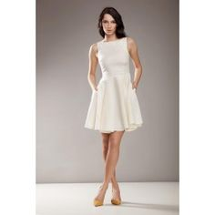 Stylowa sukienka AUDREY - krem (len)