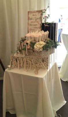 Flower Petal Wedding Confetti Cones Box Arrangement Confetti Cones, Flower Petals, Flowers, Wedding Confetti, Groom, Table Decorations, Photo And Video, Bride, Box