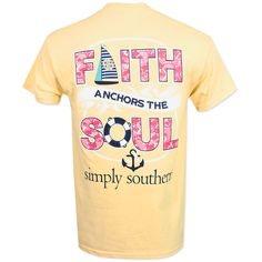 Simply Southern Faith Anchor T-Shirt - Yellow #simplysouthern