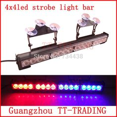 65.00$  Buy here - http://aliwhi.worldwells.pw/go.php?t=32456183037 - 45cm 16led Police strobe lights vehicle strobe light bar car windshield lights led emergency lights GREEN RED BLUE WHITE AMBER