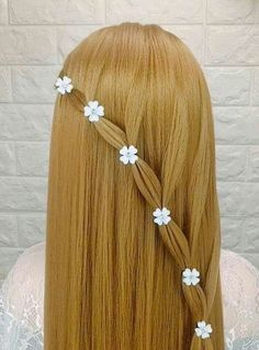 These easy hairstyles truly are amazing. Little Girl Hairstyles, Braided Hairstyles, Cool Hairstyles, Girl Haircuts, Crazy Hair Days, Hair Creations, Great Hair, Hair Dos, Hair Designs