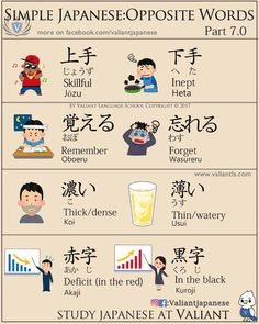 Opposite Words in Japanese . Japanese Phrases, Japanese Words, Japanese Language Lessons, Opposite Words, Japanese Symbol, Turning Japanese, Language School, Japanese Culture, Study