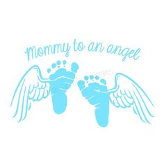 Mommy To An Angel Footprint Memorial Vinyl by SassyMonogramAndMore, $7.50