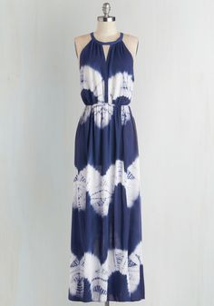 Ink Positively Dress in Tie Dye. Smiles abound when you wear this tie-dyed maxi dress! #blue #modcloth