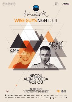 Wise Guys Flyer (Triangle Design) by LyKy Dragos, via Behance