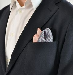 "Pocket square ""Peach pocket stripes"" – Haferkorn & Sauerbrey"
