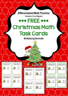 These 12 Christmas themed task cards cover Multiplying Decimals. These task cards are differentiated (leveled) and include 3 different levels: basic, intermediate, and advanced.