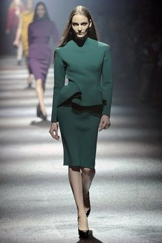 Colorful skirt suits by Lanvin. Modest and sexy.