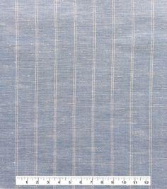 Linen & Linen Look Fabric 57\u0027\u0027-Stripes on Light Blue,