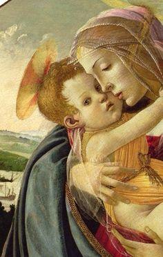 Sandro Botticelli (1445-1510):  Vergine col Bambino e San Giovanni Battista  (detail)