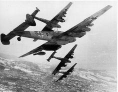 German Messerschmitt Bf.110G bombers.