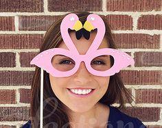 Pink Flamingo Glasses Prop, Tropical Props, Hawaiian Theme, Flamingo Decorations, Flamingo Photo Props, Pop Culture Prop