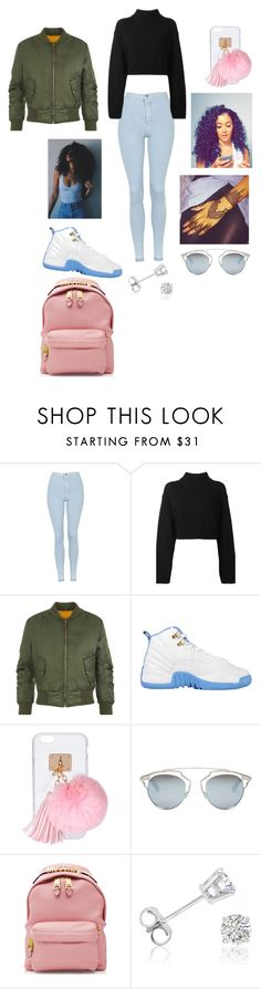 """Fleek School Day"" by miajade05 ❤ liked on Polyvore featuring Topshop, DKNY, WearAll, Ashlyn'd, Christian Dior, Moschino and Amanda Rose Collection"