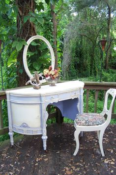 Periwinkle Charm Vanity Set. $695.00, via Etsy.
