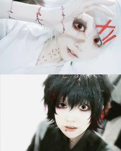 Juuzou Suzuya cosplay black and white @DaraenSuzu
