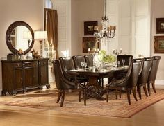 Orleans 2168-108 Dining Table in Cherry by Homelegance w/Options