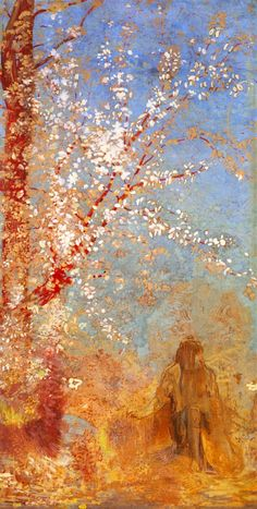 Odilon Redon - The red tree