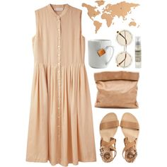 Beige by vv0lf on Polyvore featuring Cacharel, Marie Turnor, River Island, Le Labo and le mouton noir & co.