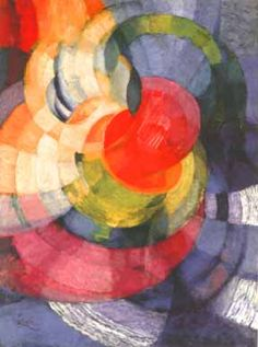 Frantisek Kupka: Disks of Newton - 1912. This is in the Orphist/Synchromist mode of abstraction that burst forth around 1912.