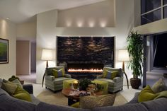 Living room design | fireplace | Mount Helix - Kathy Ann Abell Interiors