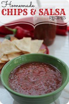 You can't go wrong with a great Homemade Salsa Recipe & Tortilla Chips!Check out this Homemade Salsa Recipe & Tortilla Chips for your next party or get-together!