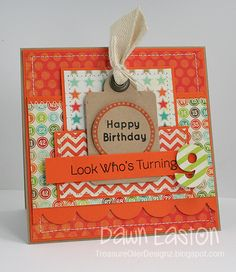 This is so bright and fun! I can't find the link to Dawn's blog for this card, but there are plenty more on her blog that I love so I'll pin one of those:)
