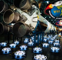 Kennedy Space Center : Host your event under the shadow of the mighty space shuttle Atlantis or colossal Saturn V. They can also assist with space related team building activities and speakers. Event Planners can find more Unique Orlando, FL Venue Ideas here: http://www.timdecker.com/blog/charity-event-planning-10-unique-orlando-venue-ideas/ #EventPlanning #EventIdeas