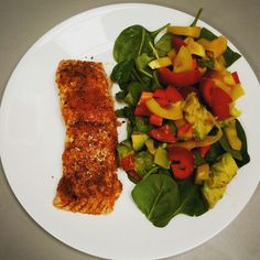 Salmon with veggies #salmon #rebelfish