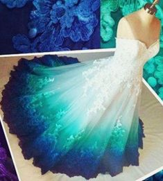 Persistent rated pretty quinceanera dresses Take the Challenge Peacock Wedding Dresses, Ombre Prom Dresses, Pretty Quinceanera Dresses, Colored Wedding Dresses, Pretty Dresses, Beautiful Dresses, Maxi Dresses, Ombre Gown, Evening Dresses